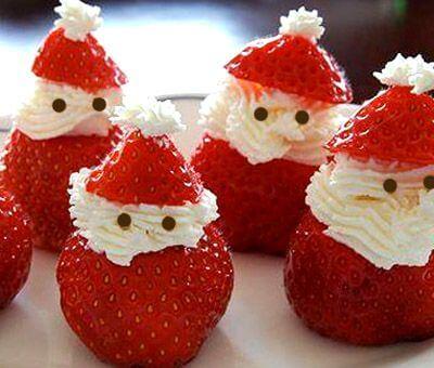 papai noel morango de Natal