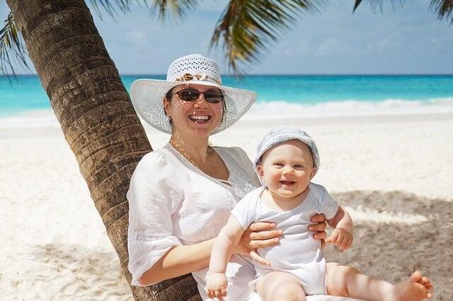 Com quantos meses posso levar meu bebê à praia?