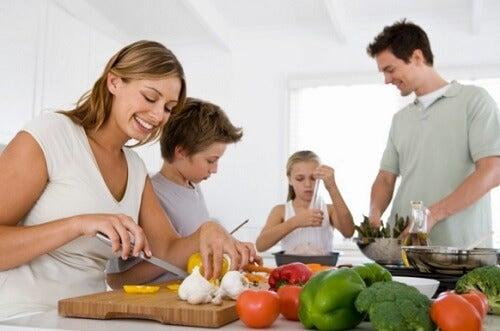 fazer refeições em família