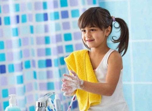 A importância de se lavar as mãos