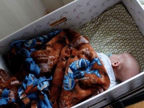Bebês que dormem em caixas: moda ou saúde?