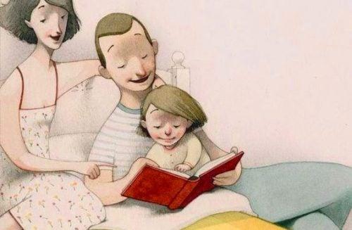 Eu coloco meus filhos para dormir com um livro, não com a televisão