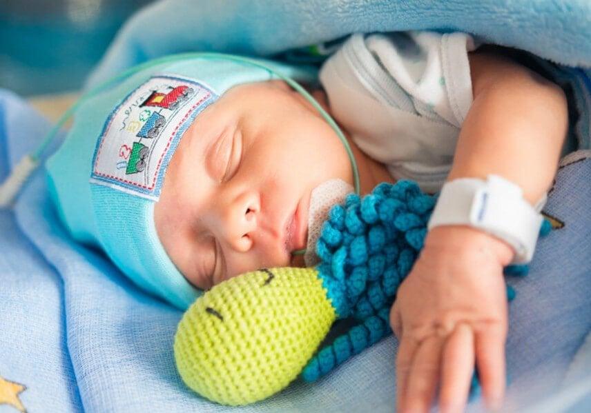 Polvos de crochê para bebês prematuros