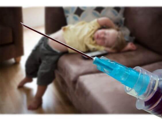 crianças não vacinadas