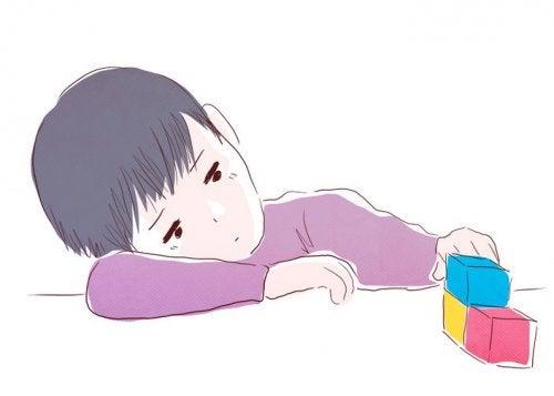 O raro sintoma de depressão infantil