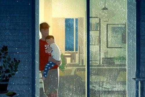 Pai é aquele que com um abraço cura todas as dores