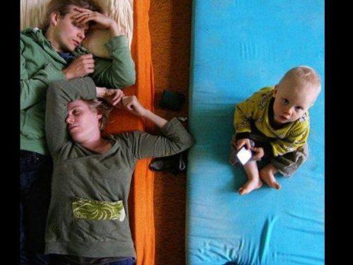 Pais de primeira viagem não lutam para dormir mais, mas para conseguir dormir