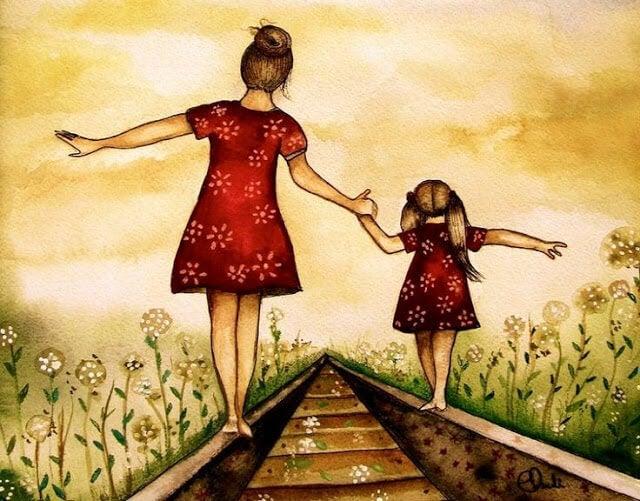 entre mãe e filha