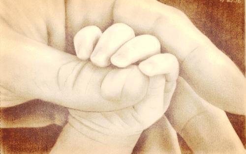 uma pequena mão