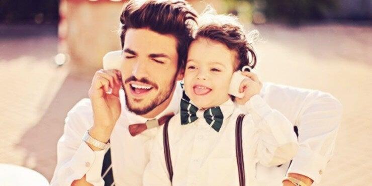 pai que cuida dos filhos