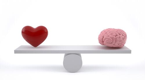 Saber diferenciar o cérebro e o coração