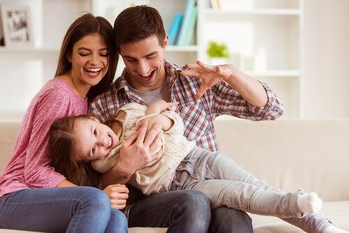 pensar positivamente em família