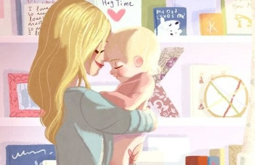 Por que os bebês sempre querem ficar no colo?