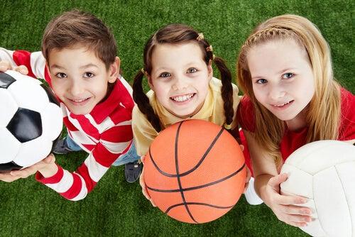 praticar esporte durante a infância