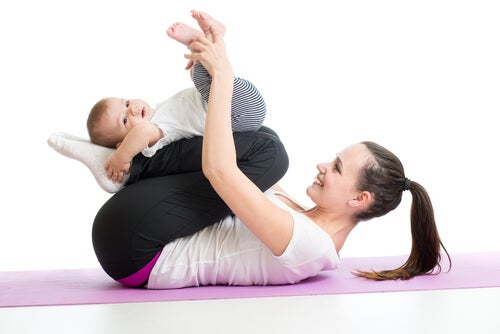 fortalecer os músculos do seu bebê