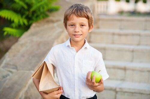 Alternativas ao sanduíche no recreio da escola