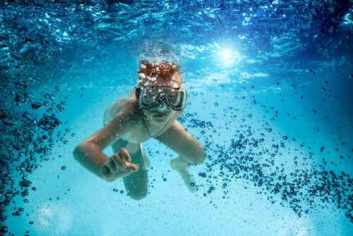 Mergulho para crianças, o contato com a natureza