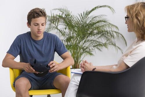 depressão jovem fazendo terapia
