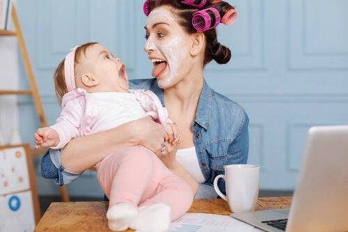 entreter o bebê