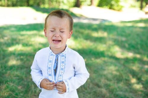 o excesso de choro nas crianças