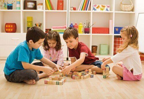 criar um espaço de brincar para as crianças