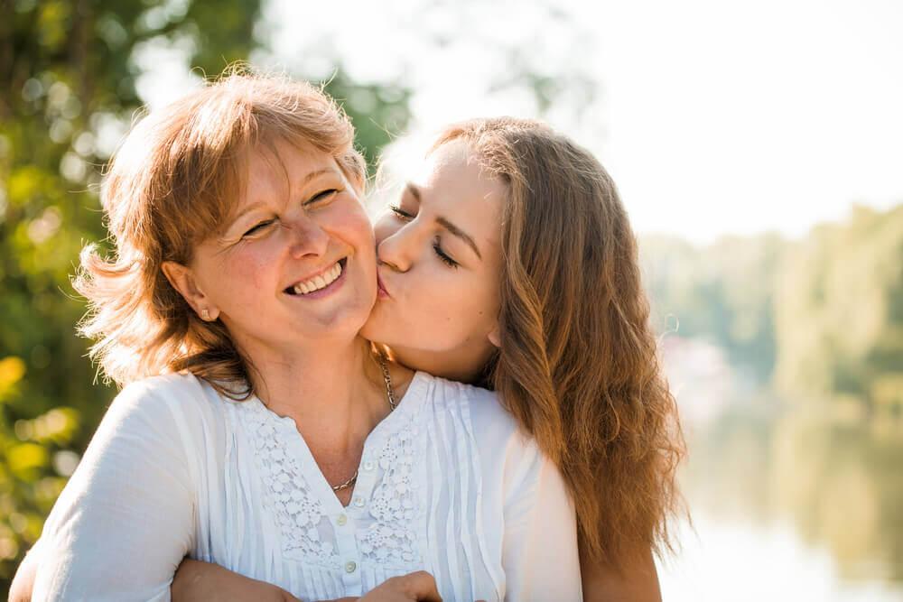 boa relação entre mãe e filha