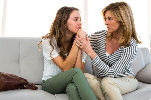 com sua filha