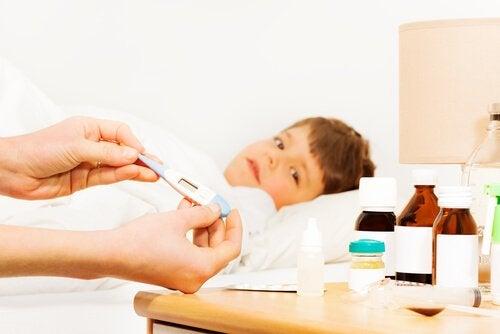 baixar a febre das crianças