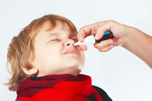 Congestão nasal em crianças