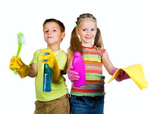 tarefas domésticas para crianças
