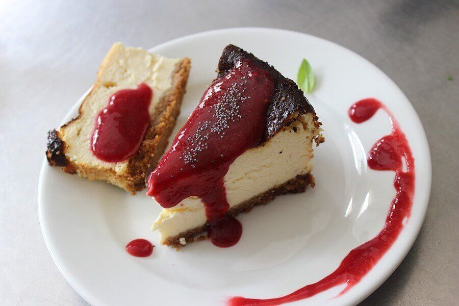 Cheesecake com morangos