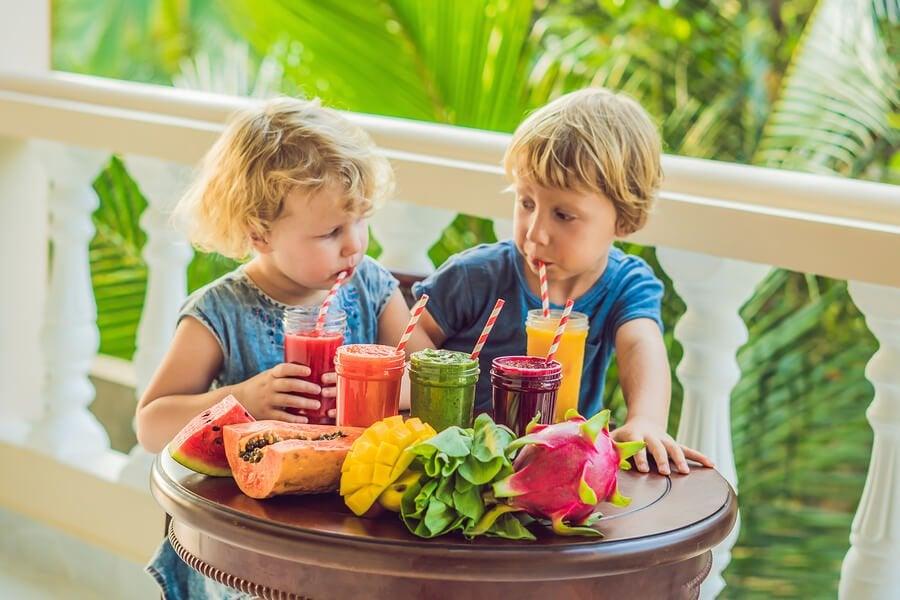 10 smoothies de frutas para crianças