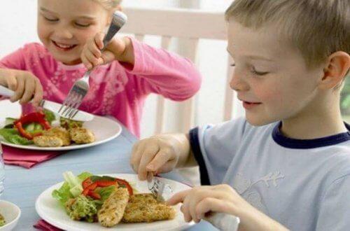 peixe na dieta das crianças