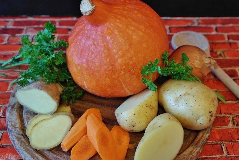 Cenoura com batatas ao forno