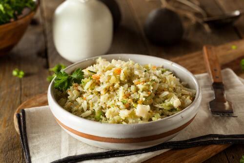 arroz com couve-flor