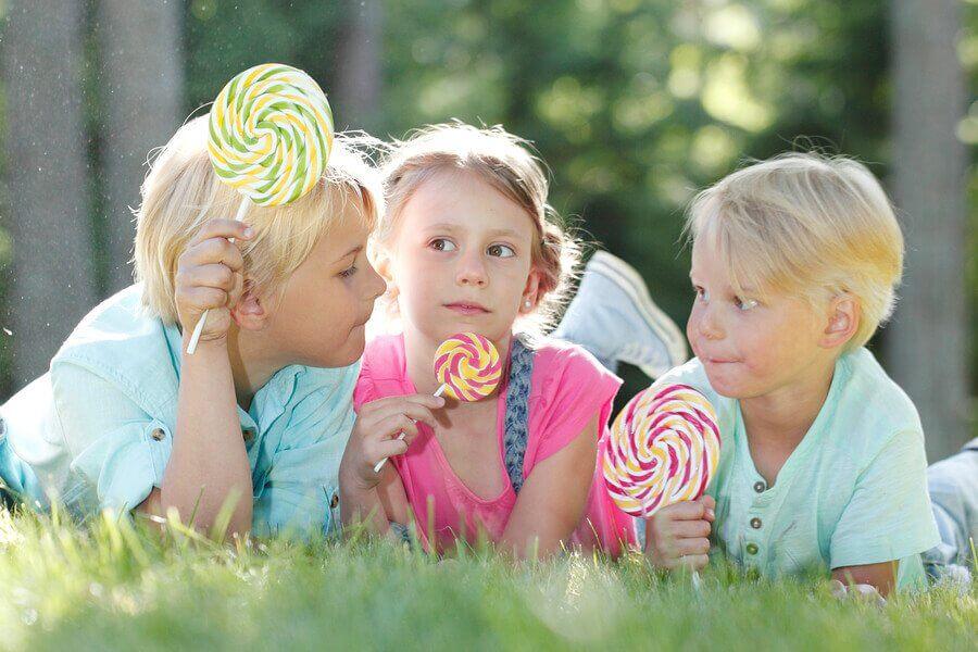 reduzir o consumo de balas de goma na infância