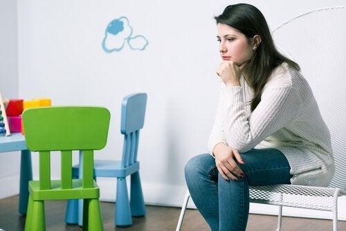 depressão da mãe ao dar a luz