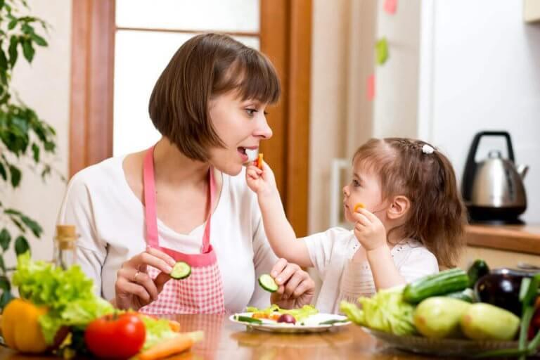 Ideias para fazer as crianças comerem verduras