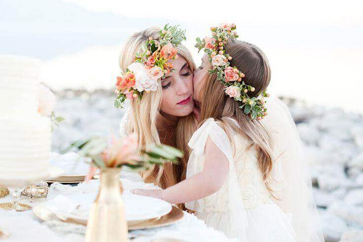 Tiaras de flores para meninas para fazer em casa