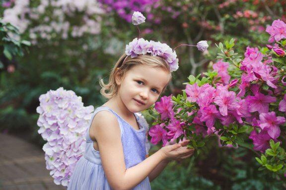 Tiara de flores para meninas