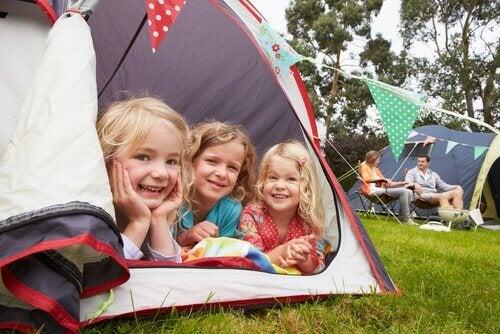 A maioria dos campings está localizada em ambientes naturais