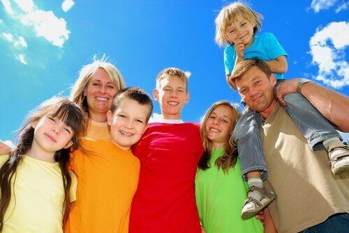Lugares ao ar livre para famílias grandes
