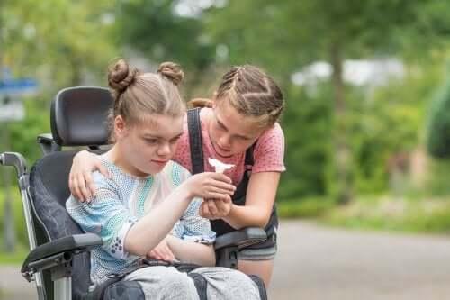 criança com deficiência física
