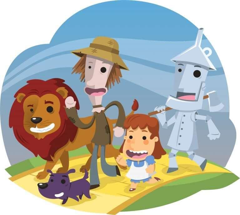 O mágico de oz é uma história para crianças que teve adaptações para diferentes meios.