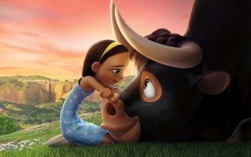 Ferdinando é um touro gentil e bonachão