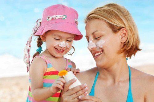 A proteção solar em bebês