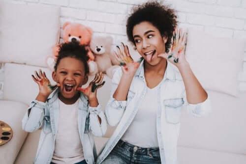 O papel da cuidadora de crianças