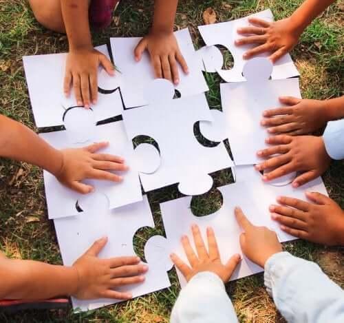 os jogos cooperativos para as crianças