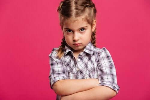 Crianças que ficam com raiva