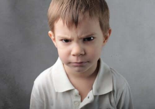 Crianças que ficam com raiva por qualquer coisa